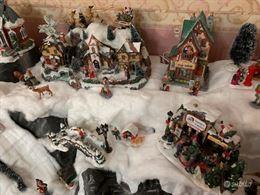 Villaggio natalizio addobbo per natale