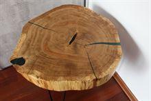 Tavolino - fetta di quercia