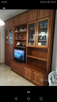 Libreria con porta tv