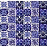 Tono - Patchwork Piastrelle Messicane blu | Talavera