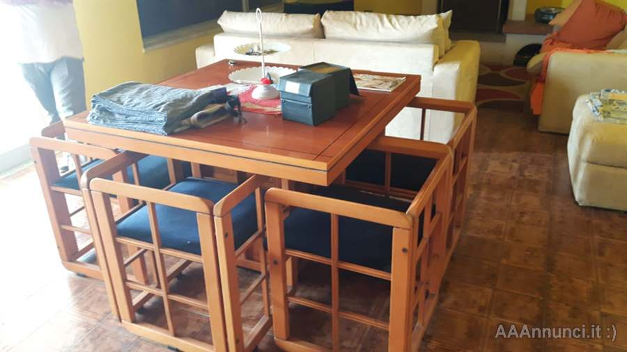 Tavolo sala da pranzo + 6 sedie in ciliegio - Messina - Sicilia