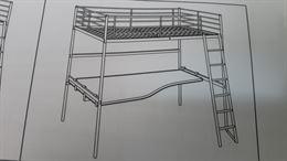 Letto a soppalco Ikea mod. Svarta