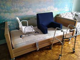 Letto ortopedico elettrico completo di materasso