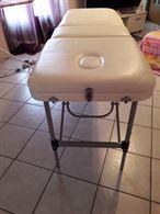 Lettino massaggi bianco con custodia