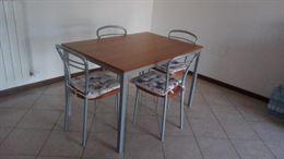 Tavolo da cucina Bontempi INGENIA + 4 sedie
