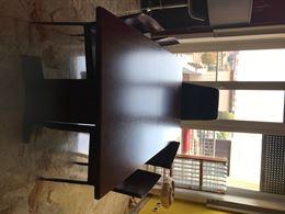 Tavolo legno con 4 sedie bordò