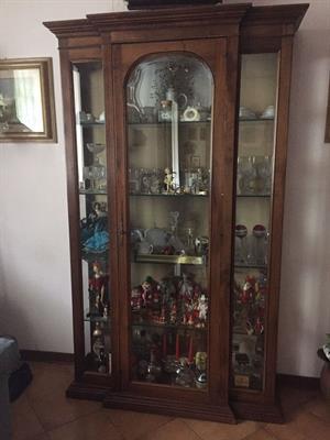 Cristalliera in vetro legno