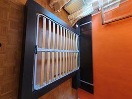 Letto moderno con comodini, rete, materasso e armadio 3 ante