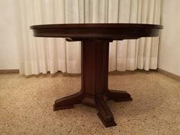 Tavolo tondo allungabile e 6 sedie