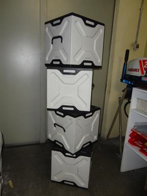Scatole portaoggetti in plastica multiuso ottimo stato