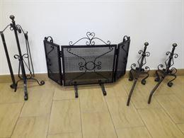 Set accessori per caminetto