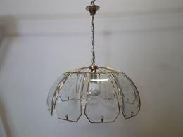 Lampadario in vetro e ottone