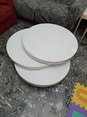 Tavolino moderno bianco laccato